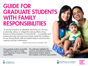 Guide for Graduate Students with Family Responsibilities
