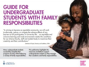 Guide for Undergraduate Students with Family Responsibilities